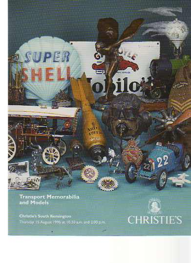 Christies 1996 Transport Memorabilia & Models