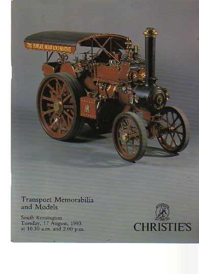 Christies 1993 Transport Memorabilia & Models