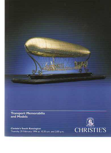 Christies 1996 Transport Memorabilia