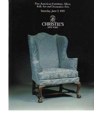 Christies 1989 Fine American Furniture, Silver, Folk Art ..