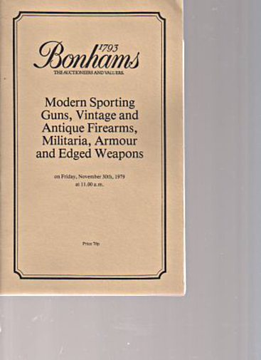Bonhams 1979 Sporting Guns, Vintage, Antique Firearms etc