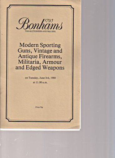 Bonhams 1980 Sporting Guns, Vintage, Antique Firearms etc