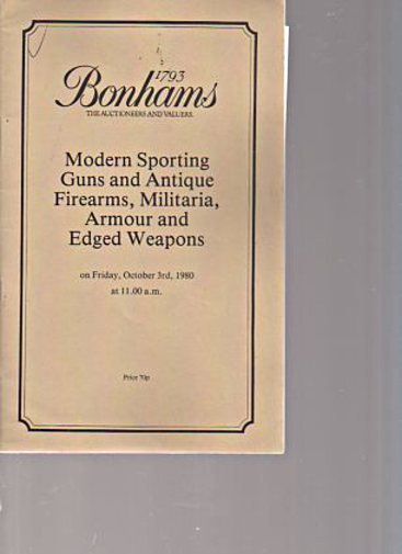 Bonhams 1980 Sporting Guns, Antique Firearms, Armour