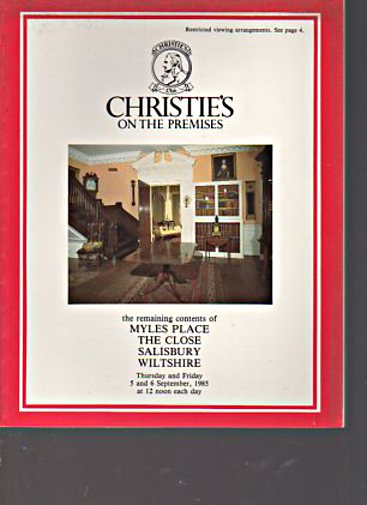 Christies 1985 Remaining Contents of Myles Place, Wiltshire