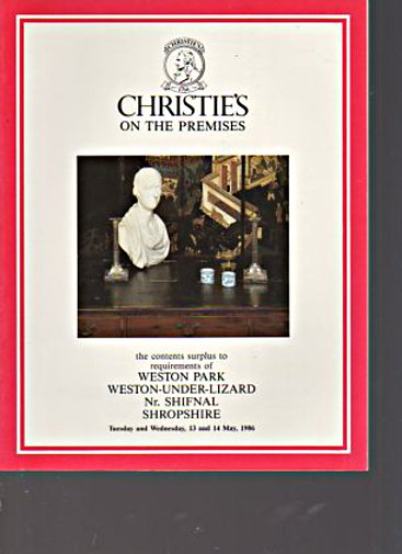 Christies 1986 Contents of Weston Park, Shropshire
