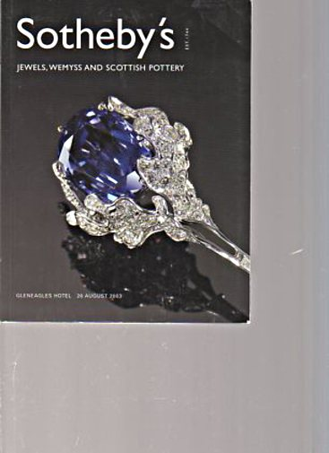 Sothebys 2003 Jewels, Wemyss & Scottish Pottery