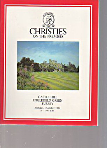 Christies 1984 Castle Hill Englefield Green Surrey - Hardback