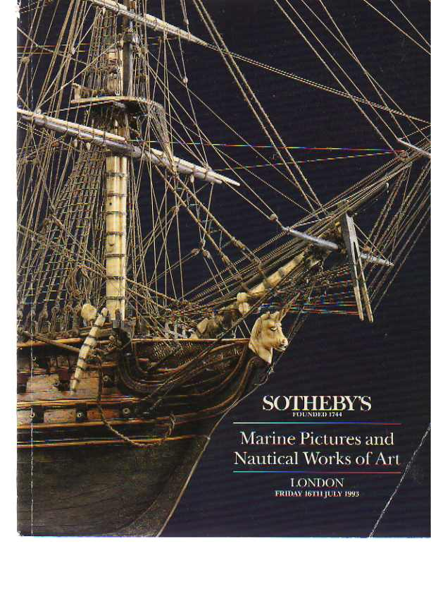 Sothebys 1993 Marine Pictures & Nautical Works of Art
