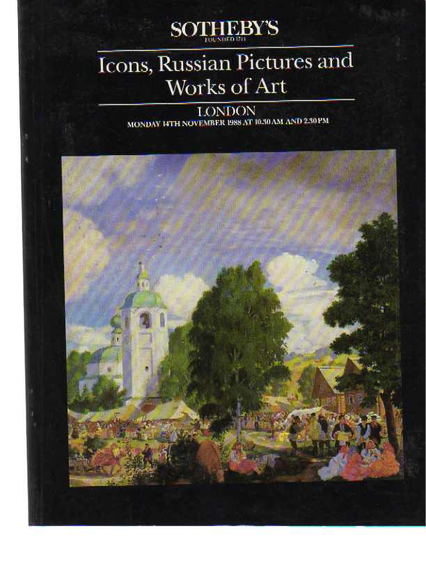 Sothebys 1988 Icons, Russian Pictures & Works of art