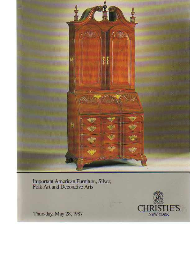 Christies 1987 Important American Furniture, Silver, Folk art