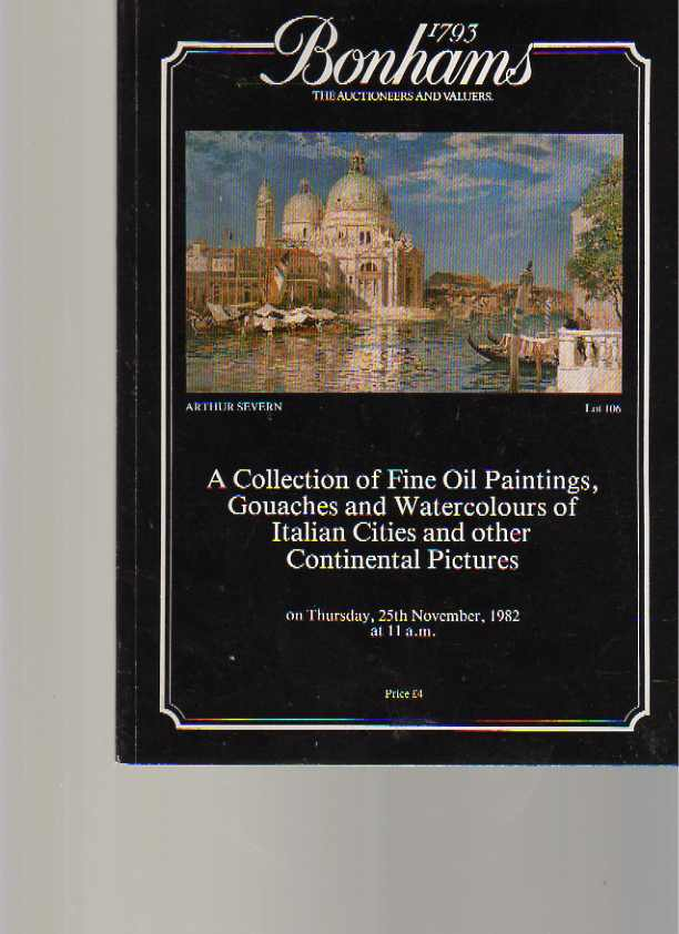 Bonhams 1982 Oil Paintings of Italian Cities & other pictures