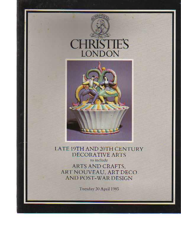 Christies 1985 19th & 20th Century Decorative Arts