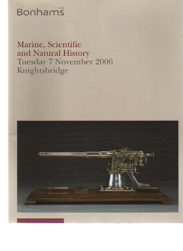 Bonhams 2006 Marine, Scientific and Natural History,
