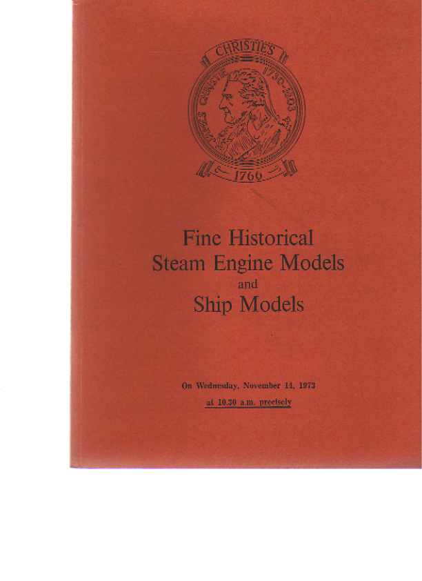 Christies 1973 Historic Steam Engines Models & Ship Models