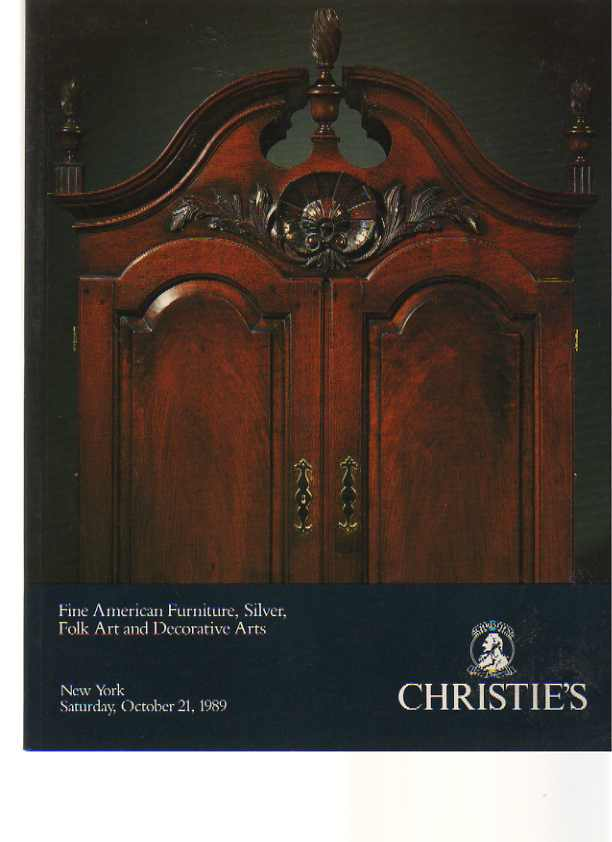 Christies 1989 American Furniture, Silver, Folk Art