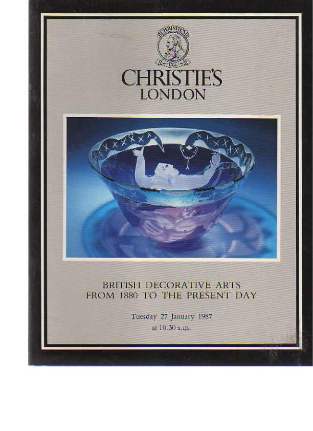 Christies 1987 British Decorative Arts 1880 to the Present Day