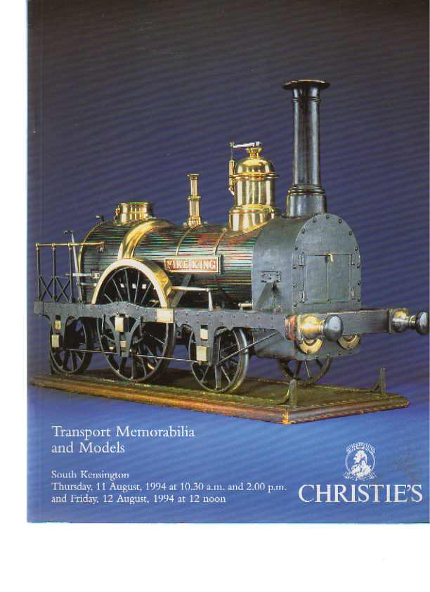 Christies 1994 Transport Memorabilia & Models