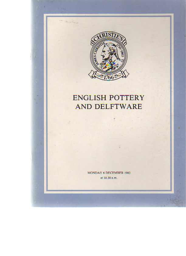 Christies 1982 English Pottery and Delftware