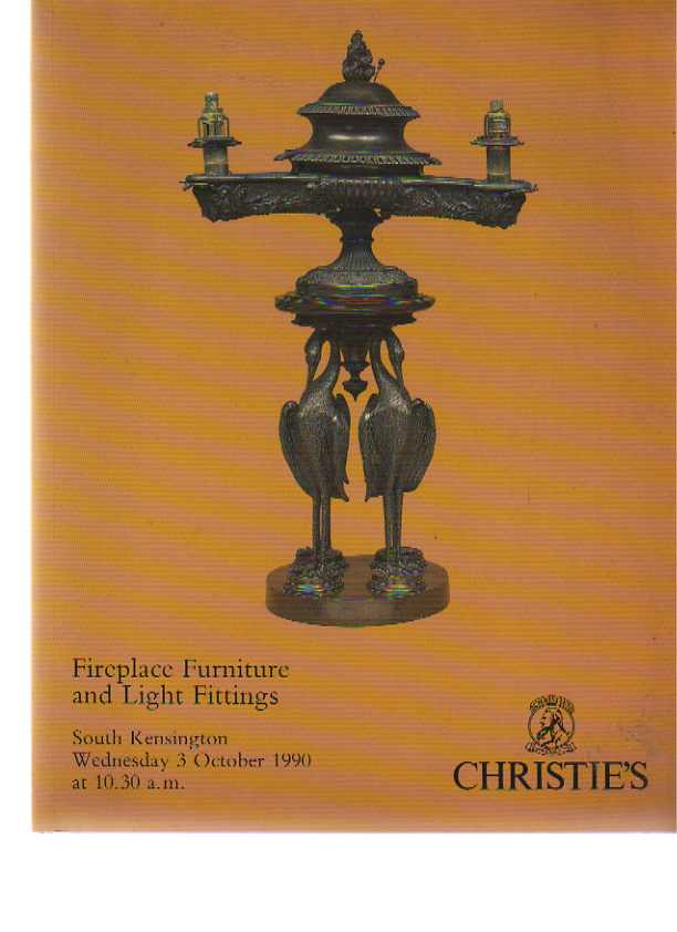 Christies 1990 Fireplace Furniture & Light Fittings