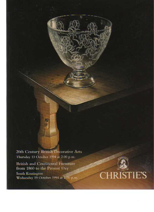 Christies 1994 20th C British Decorative Arts