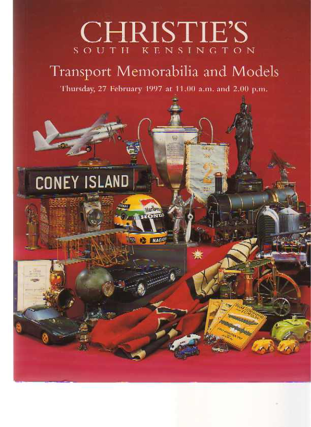 Christies 1997 Transport Memorabilia and Models
