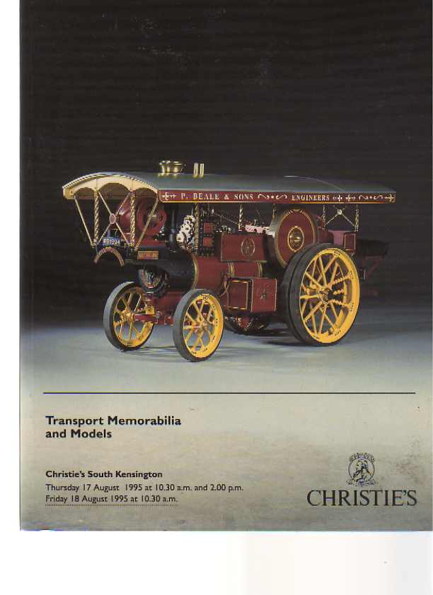 Christies 1995 Transport Memorabilia and Models