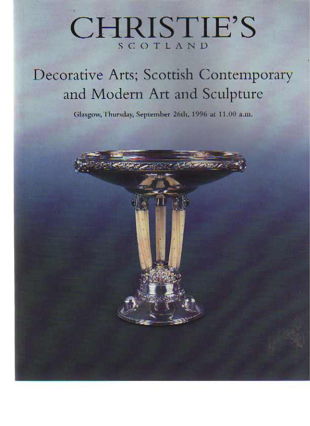 Christies 1996 Decorative Arts inc Scottish Modern Art