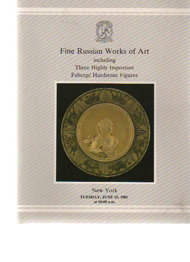 Christies 1982 Russian Works of Art, Important Fabergé