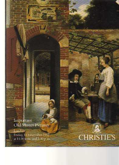 Christies 1992 Important Old Master Pictures