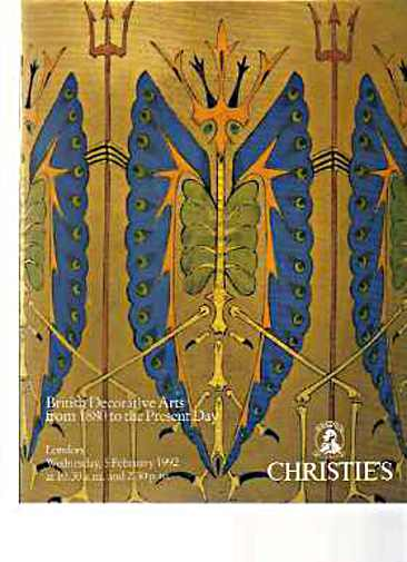 Christies 1992 British Decorative Arts 1880 to the present day