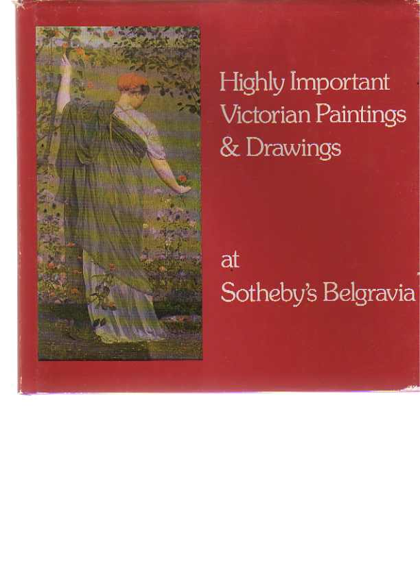 Sothebys 1979 Important Victorian Paintings