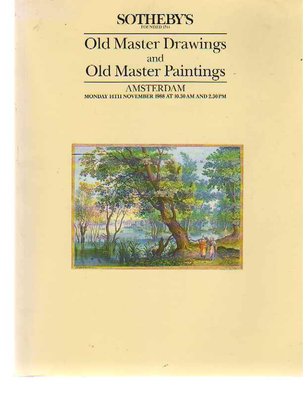 Sothebys 1988 Old Master Drawings & Old Master Paintings