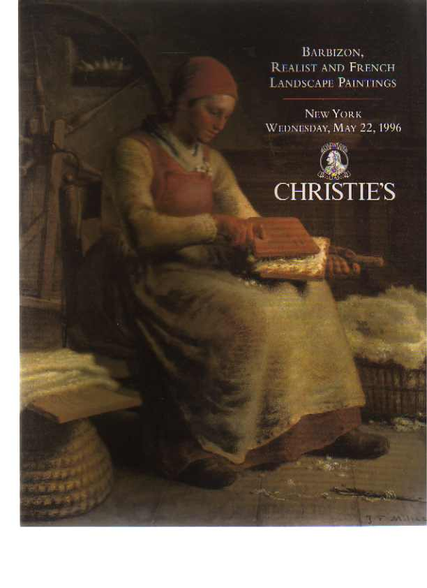 Christies May 1996 Barbizon, Realist and French Landscape Paintings