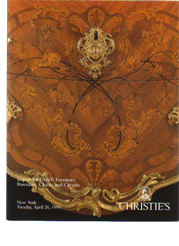 Christies 1994 Important French Furniture, Porcelain & Carpets