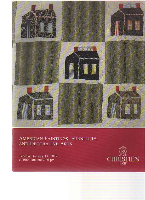 Christies 1989 American Paintings, Furniture, Folk Arts
