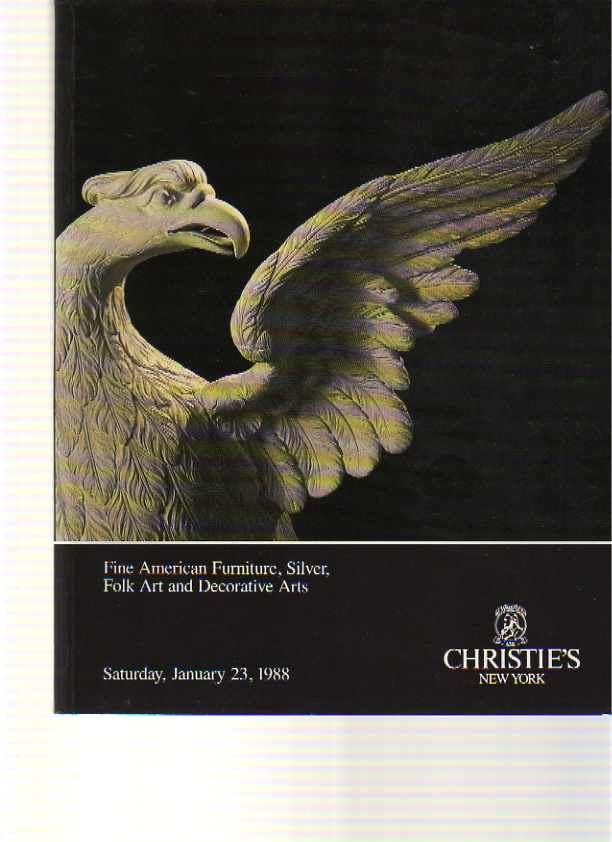 Christies 1988 American Furniture, Silver & Folk Art