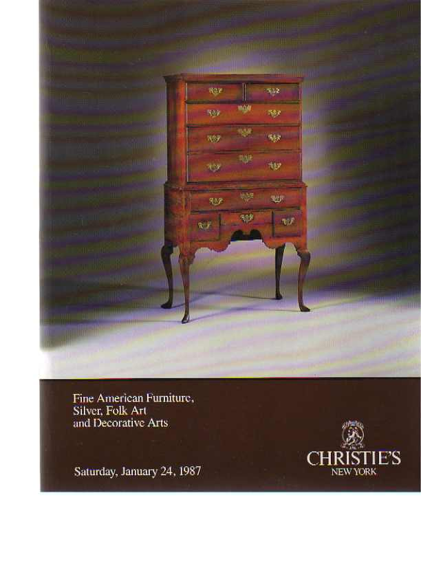 Christies 1987 Fine American Furniture, Silver, Folk Art
