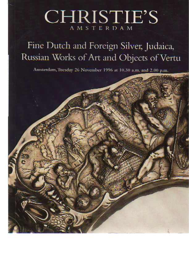 Christies 1996 Russian Works of Art, Dutch Silver, Judaica etc