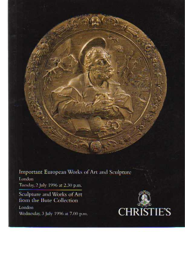 Christies 1996 Bute Collection European Works of Art, Sculpture