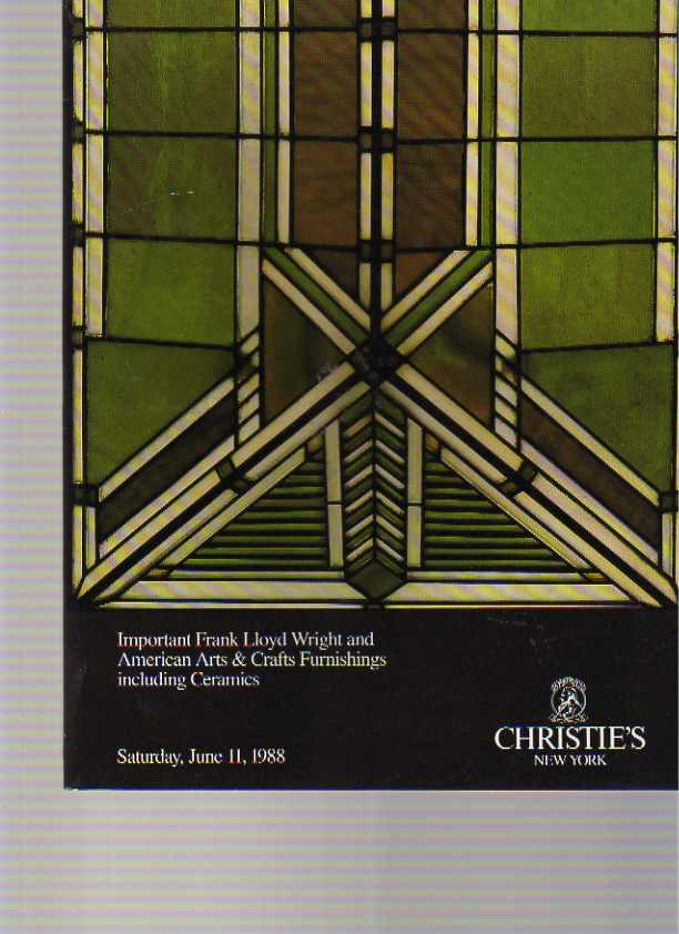 Christies 1988 Frank Lloyd Wright & US Arts & Crafts