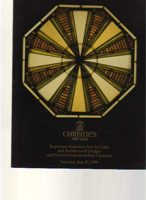 Christies 1989 Important American Design Arts & Crafts, Ceramics