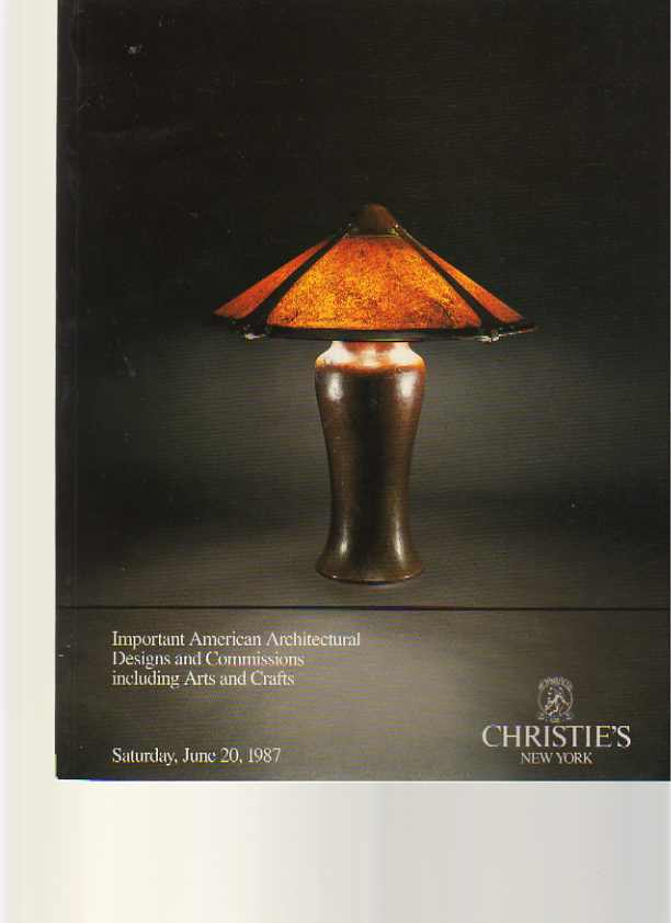 Christies 1987 Important American Designs, Arts & Crafts