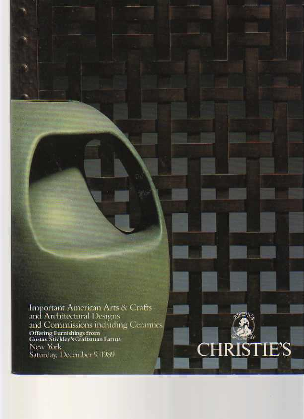 Christies 1989 American Arts & Crafts, Stickley Furniture