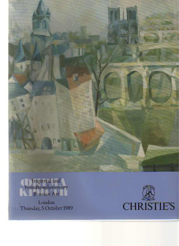 Christies 1989 Imperial & Post-Revolutionary Russian Art