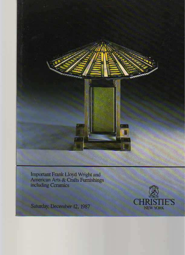 Christies 1987 Frank Lloyd Wright & US Arts & Crafts