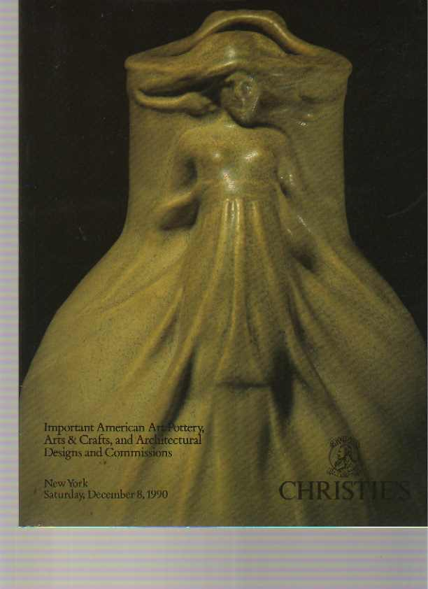 Christies 1990 Important American Art Pottery, Arts & Crafts