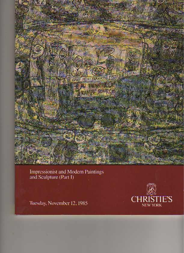 Christies 1985 Impressionist & Modern Paintings & Sculpture pt I