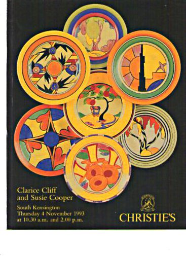 Christies 1993 Clarice Cliff and Susie Cooper