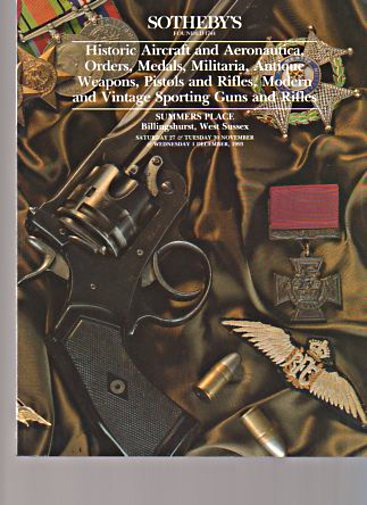 Sothebys 1993 Aircraft Antique Weapons Sporting Guns Medals