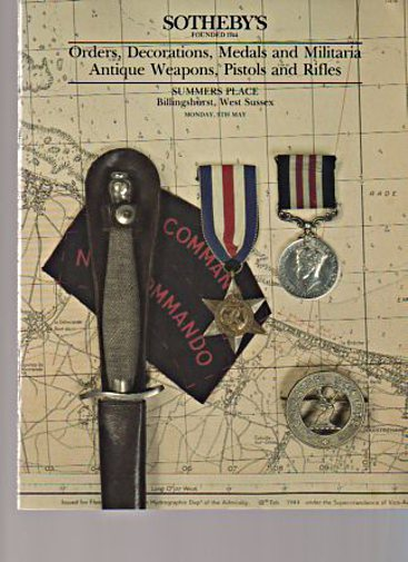 Sothebys 1994 Medals, Militaria, Antique Weapons, Pistols Rifles